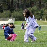 niñas en el parque