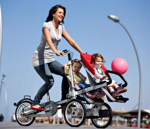 bicileta dos bebes
