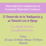 Videoconferencia: El Desarrollo de la Inteligencia y su Relación con el Apego