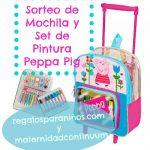 Sorteo de Mochila Trolley y Set de Pintura de Peppa Pig