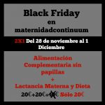 Black Friday en Maternidad Continuum