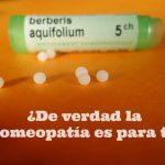 ¿De verdad la Homeopatía es para ti?