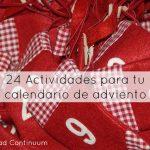 24 Actividades para tu calendario de adviento