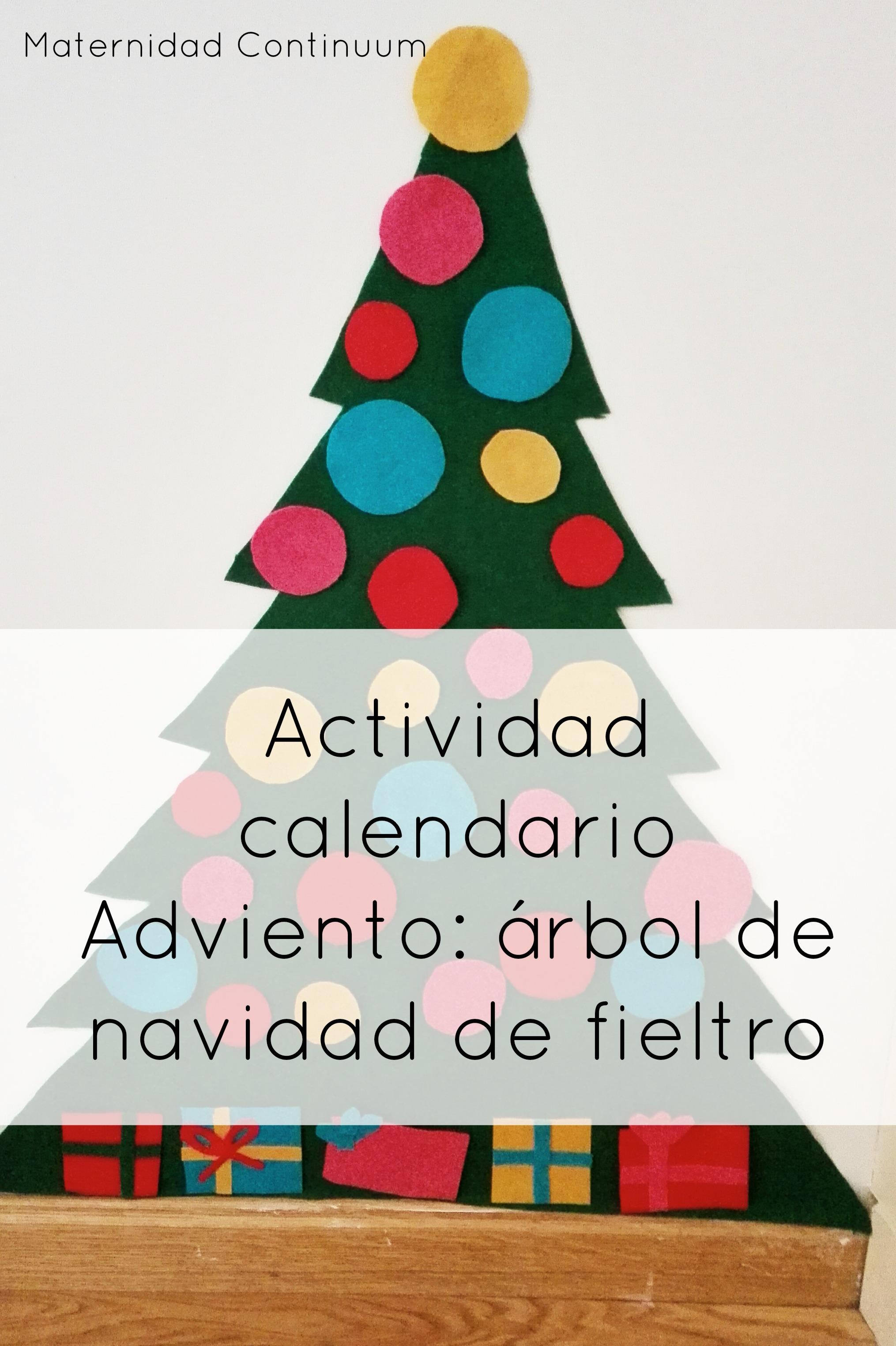 actividad calendario adviento rbol de navidad de fieltro