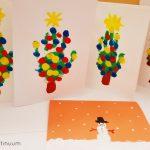 Actividad calendario de adviento: postales navideñas de dedos