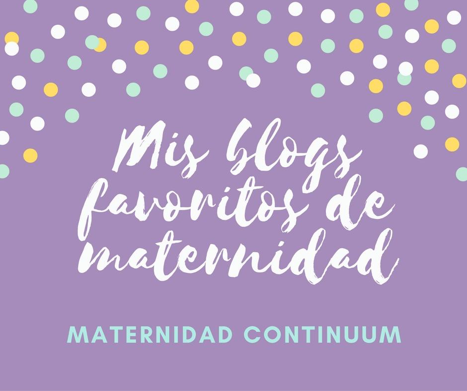 Mis blogs favoritos de maternidad: 28 agosto-3 septiembre 2017