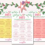 Bingo navideño para madres que dan pecho (Actualizado y con plantillas descargables)