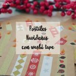 Postales navideñas con Washi tape