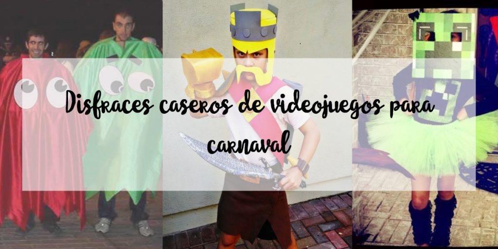 Disfraces caseros de videojuegos para carnaval